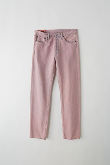 Acne Studios Blå Konst 1996 pink are classic fit, 5-pocket jeans with a regular length and high waist.