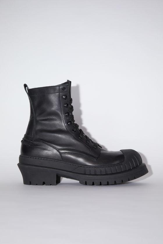 아크네 스튜디오 부츠 Acne Studios Lug sole ankle boots - Black/black