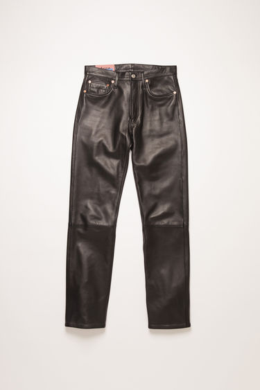 Acne Studios 1996 Leather trousers are crafted from soft lamb leather and cut to sit high on the waist with a straight fit.