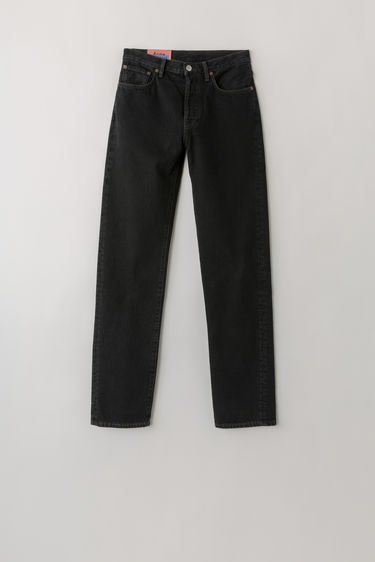 Acne Studios Blå Konst 1997 Black Overdye jeans are cut to sit high on the waist and shaped for a straight fit.