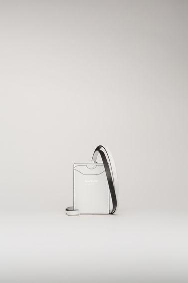 아크네 스튜디오 키체인 카드지갑 Acne Studios Keychain cardholder white/black