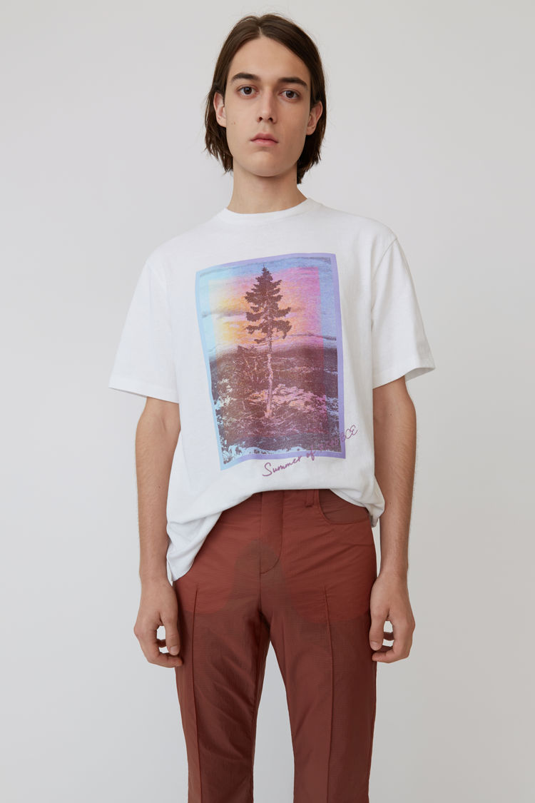 T Shirt Mit Print Weiß by Acne Studios