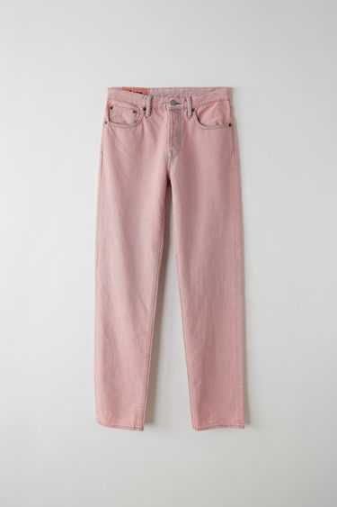 Acne Studios Blå Konst 1997 pink are classic fit, 5-pocket jeans with a regular length and high waist.