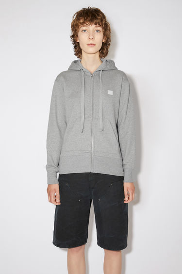 Acne Studios Ferris Zip Face Light Grey Melange 375x