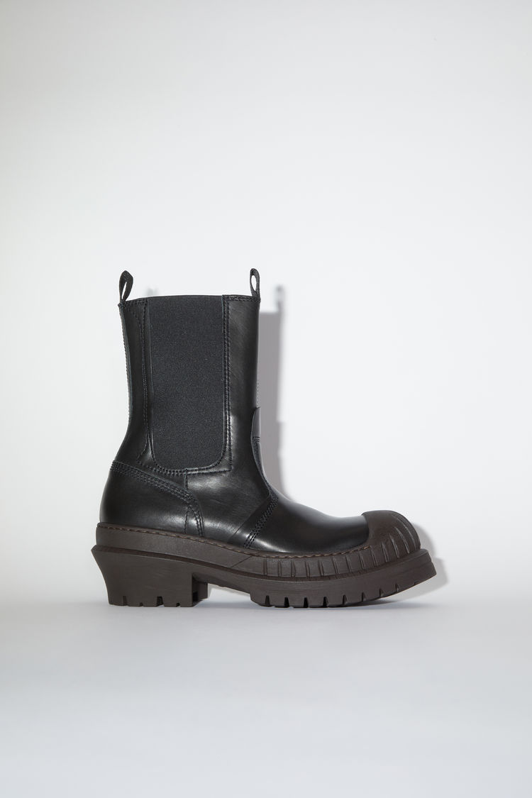 Chelsea leather boots Black/dark brown
