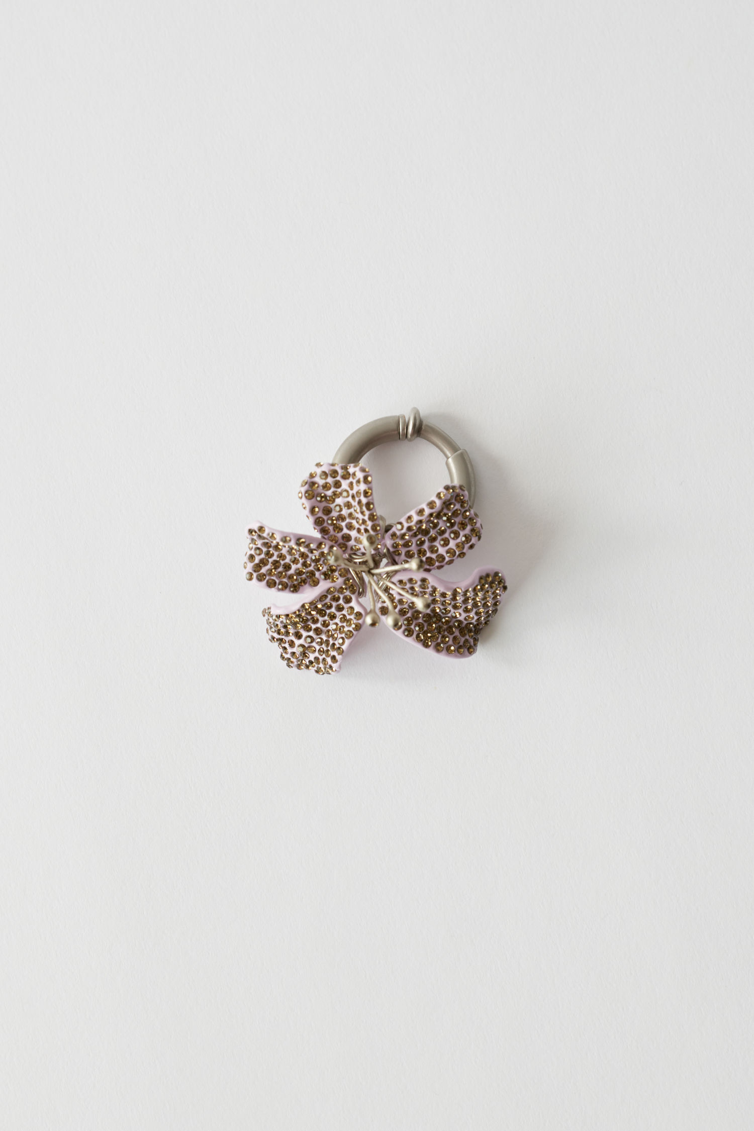 Flower clip lavender/brown