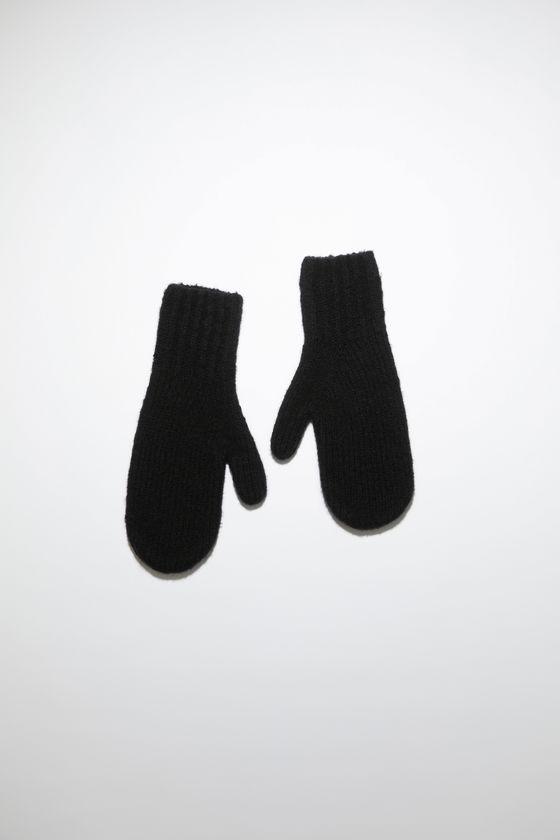 아크네 스튜디오 장갑 Acne Studios Wool blend mittens - All black