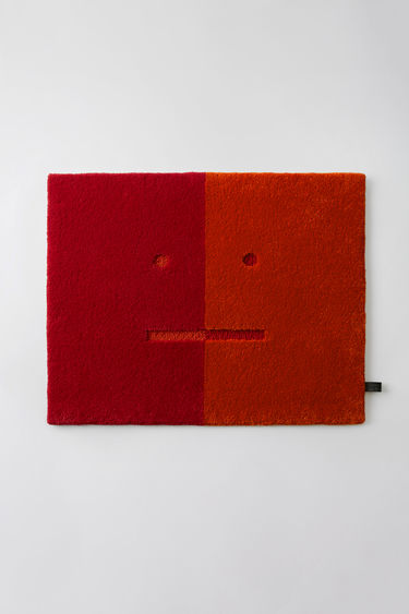 Acne Studios Face Door Mat Red/orange 375x
