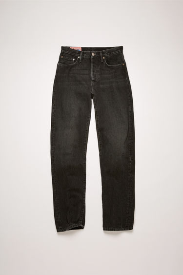 Acne Studios 1997 Vintage Black jeans are crafted from rigid denim that's faded and whiskered to give a time-worn appeal. This pair is cut to fit slim and sit high on the waist before falling into straight legs.