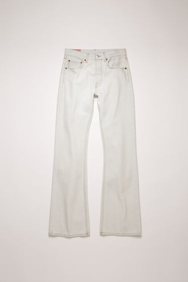 Acne Studios 1992F Sky jeans are cut from rigid denim that's stonewashed for a time-worn appeal. They're cut to a relaxed, bootcut silhouette with a high-rise waist and finished with a concealed button placket.
