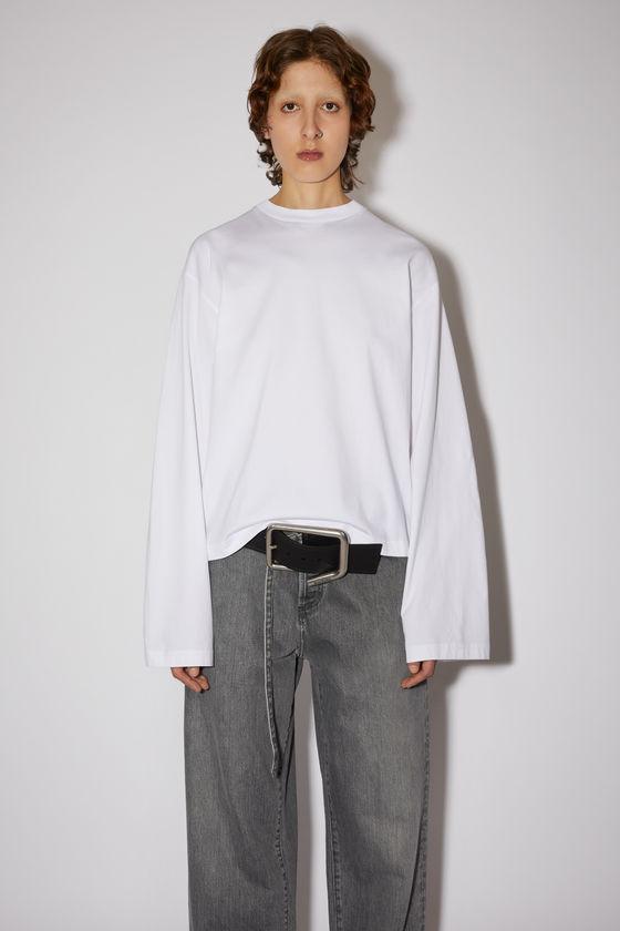 아크네 스튜디오 티셔츠 Acne Studios Straight fit t-shirt - Optic White