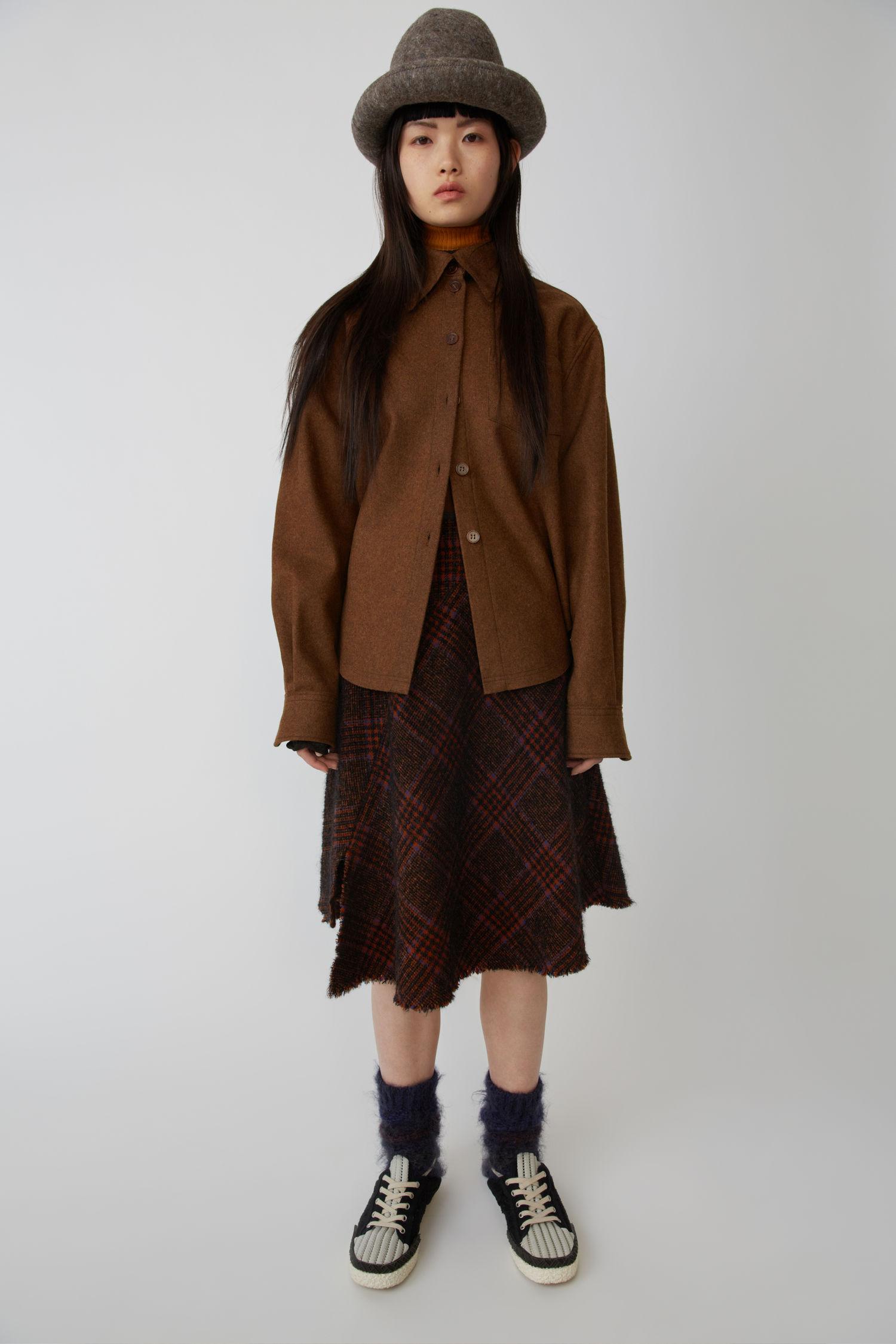 ACNE STUDIOS A-line skirt black/purple