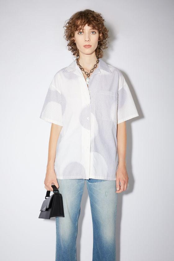 아크네 스튜디오 셔츠 Acne Studios Striped dot shirt - White/brown