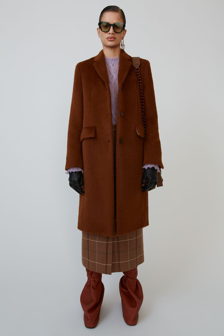 Single Breasted Coat Caramel Brown by Acne Studios