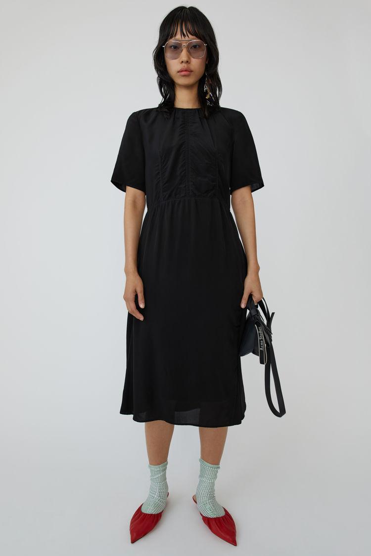 Studios Acne Shirred Dress OXiuZPk Black roxBEdCeWQ