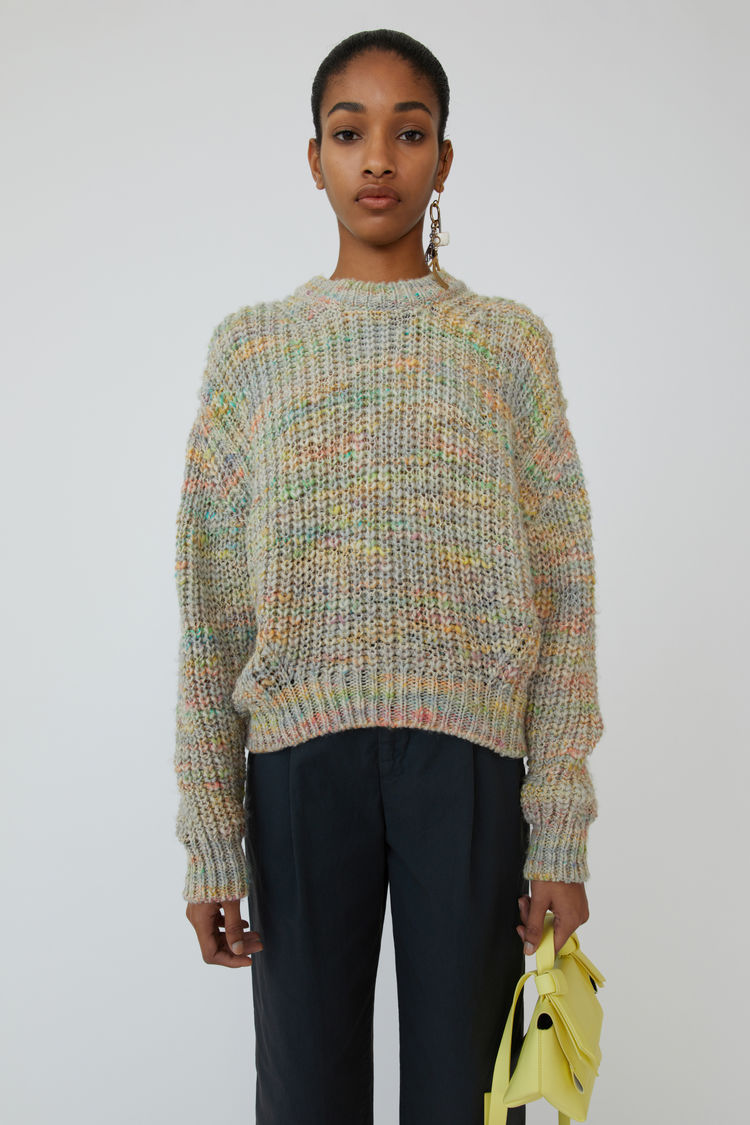Space Dyed Sweater Pale Grey/Multi by Acne Studios