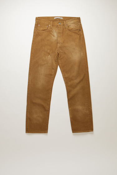 Acne Studios 1996 RF Beige jeans are crafted from organic cotton twill that's washed to give a worn-in finish. They're cut to sit high on the waistband before falling into loose, straight legs. This item is individually crafted, therefore, the colour may slightly differ from the images shown.