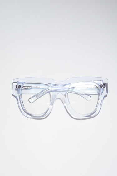 Acne Studios transparent acetate sunglasses are made in Italy.
