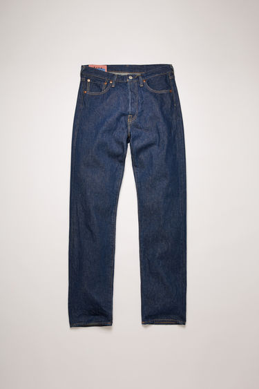 Acne Studios 1996 Blue Water jeans are crafted from rigid denim with classic tobacco stitching. They're shaped to a high-rise silhouette before falling into loose, straight legs.
