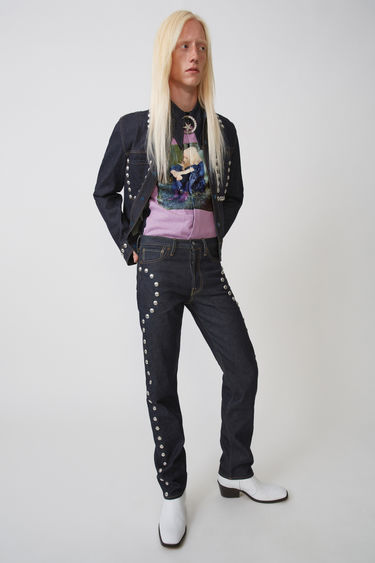 Johnny Winter Capsule Acne Studios 1996 Studs Indigo blue 375x