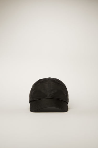 Acne Studios black cap is shaped to a six-panel silhouette and completed with a face-embroidered patch on the back.