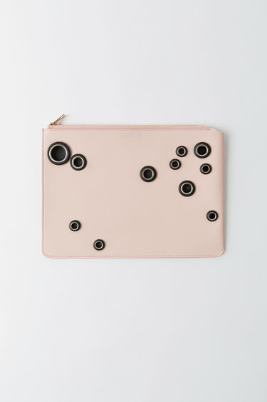 Leather goods Malachite L Eyelet Powder pink/black 375x
