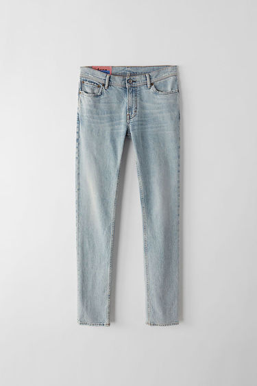 Acne Studios Blå Konst North marble wash are skinny fit, 5-pocket jeans with a regular length and mid waist.