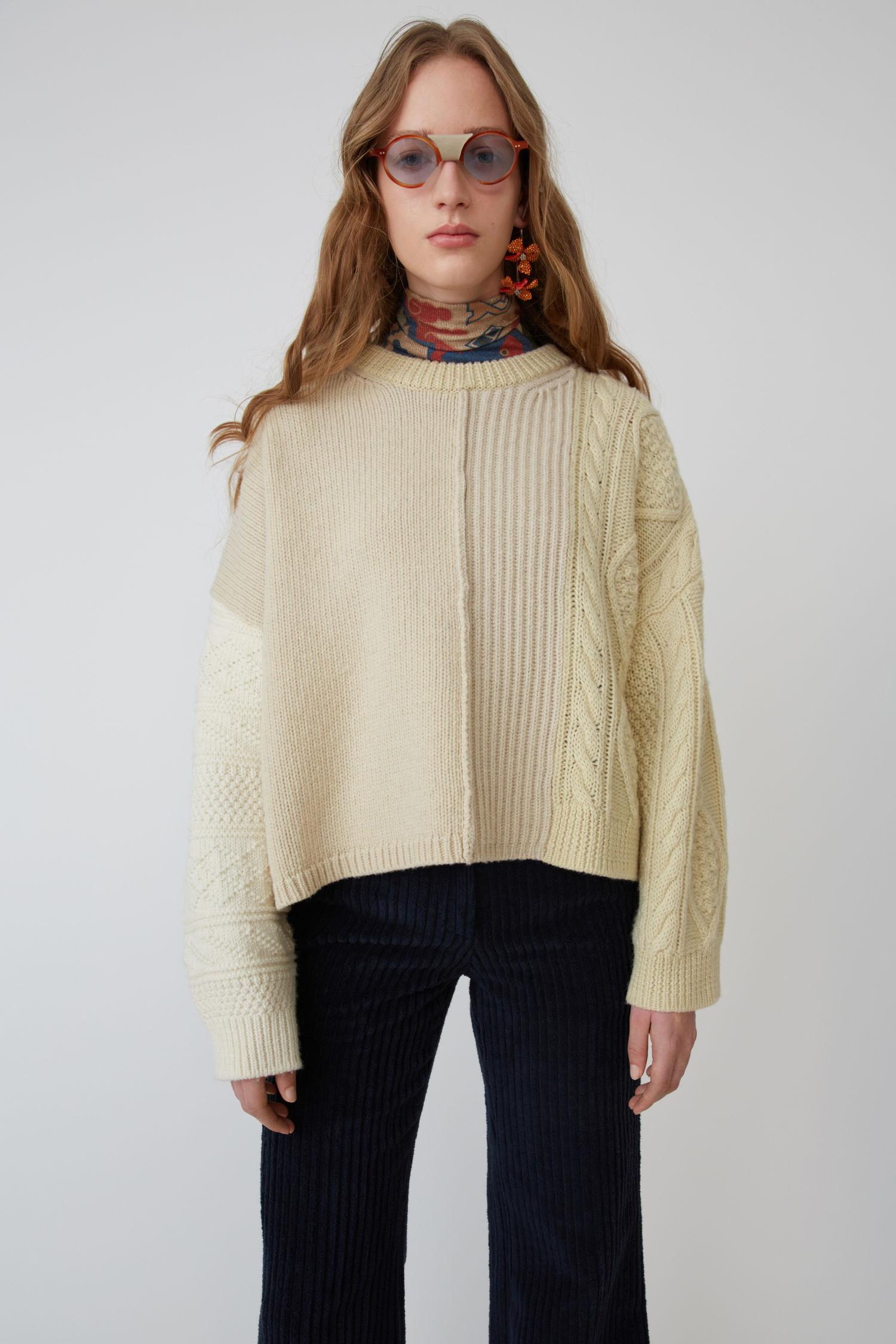 Textured Sweater White/Ecru