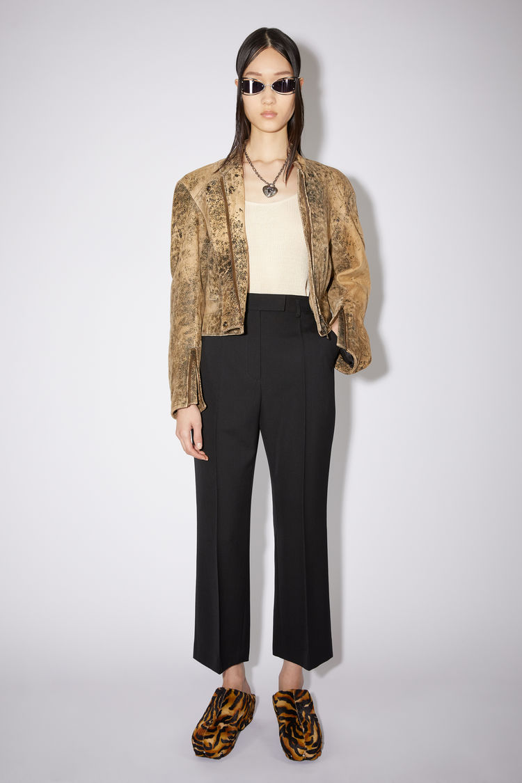 Acne Studios Flared wool-blend trousers Black
