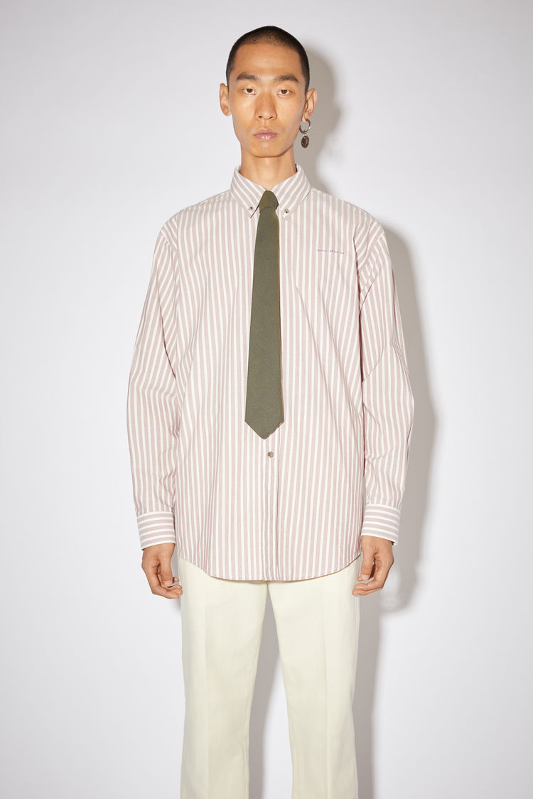 Acne Studios Clothing Striped shirt Old pink