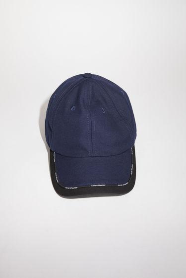 아크네 스튜디오 볼캡 모자 Acne Studios Baseball cap navy/black
