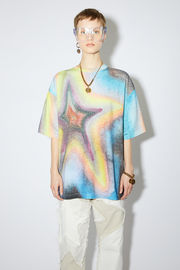 Acne Studios multicolor crew neck t-shirt is made of cotton. In collaboration with Ben Quinn.