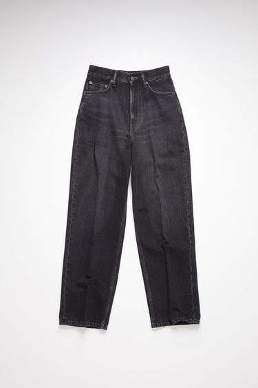 Acne Studios vintage black jeans are made from rigid denim with a super high rise and a relaxed, tapered leg.