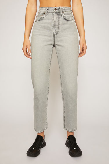 Acne Studios Mece Stone Grey jeans are crafted from rigid denim that's washed and whiskered to give a time-worn appeal. They're shaped to sit high on the waist before falling into cropped, straight legs.