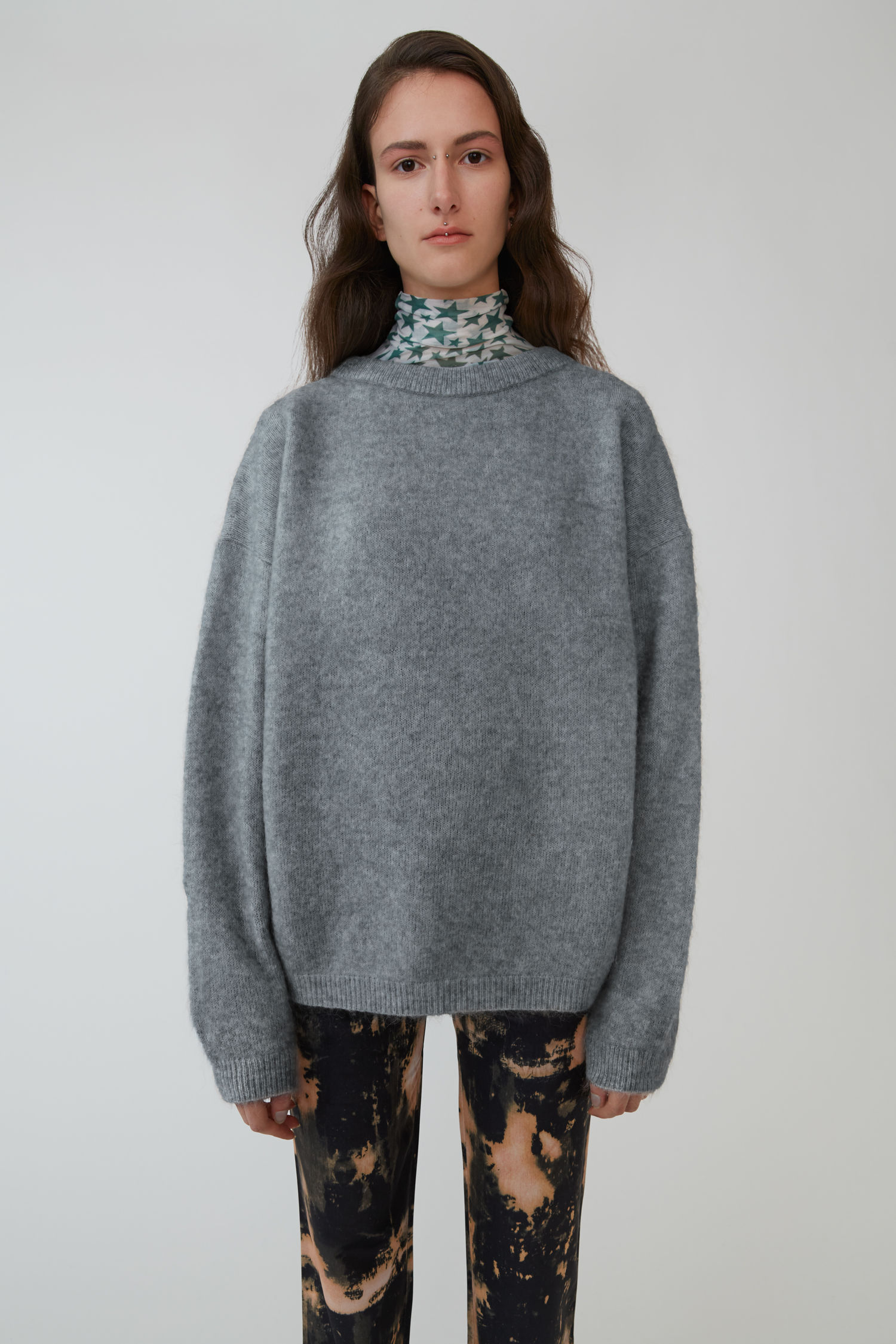 Oversized sweater grey melange