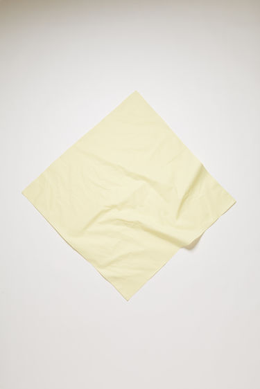 Acne Studios pale yellow scarf is crafted to a square shape from a lightweight cotton and it's neatly finished with hand-rolled edges along the borders.