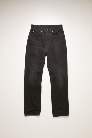 Acne Studios Mece Washed Out Black jeans are crafted from rigid denim that's faded and whiskered to give a worn-in appeal. They're shaped to sit high on the waist before falling into cropped, straight legs.