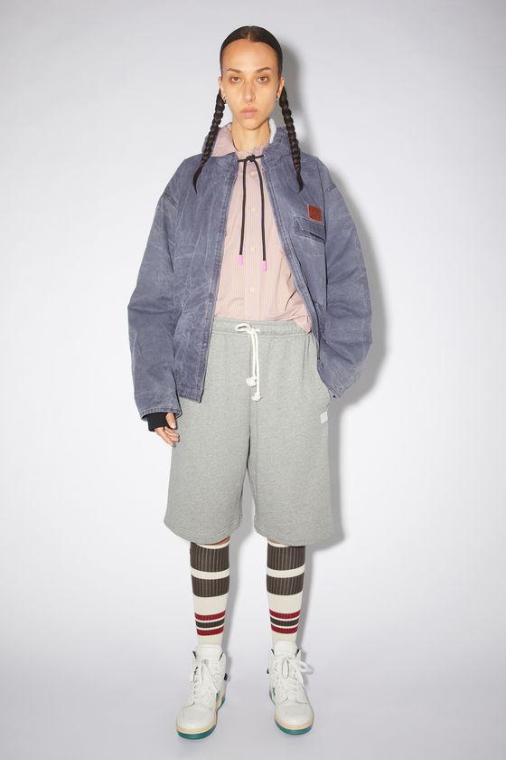 아크네 스튜디오 반바지 Acne Studios Fleece sweat shorts - Light Grey Melange