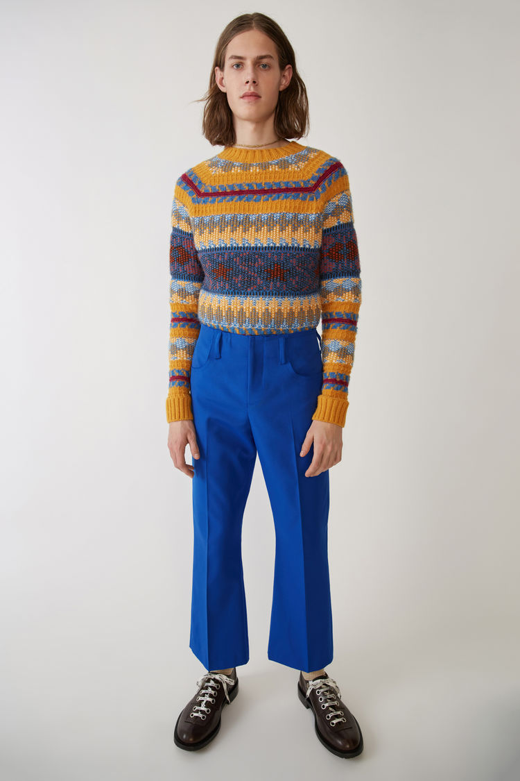 Boot Cut Trousers Bright Blue by Acne Studios