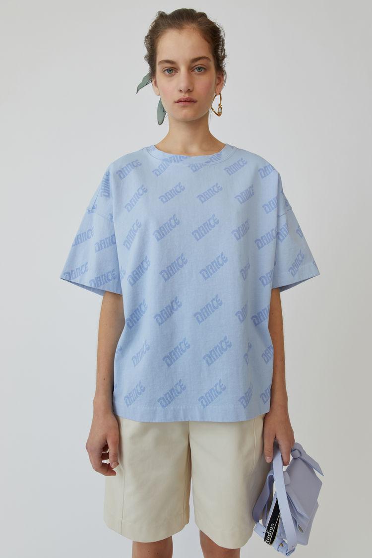 Printed T Shirt Light Blue/Lilac by Acne Studios