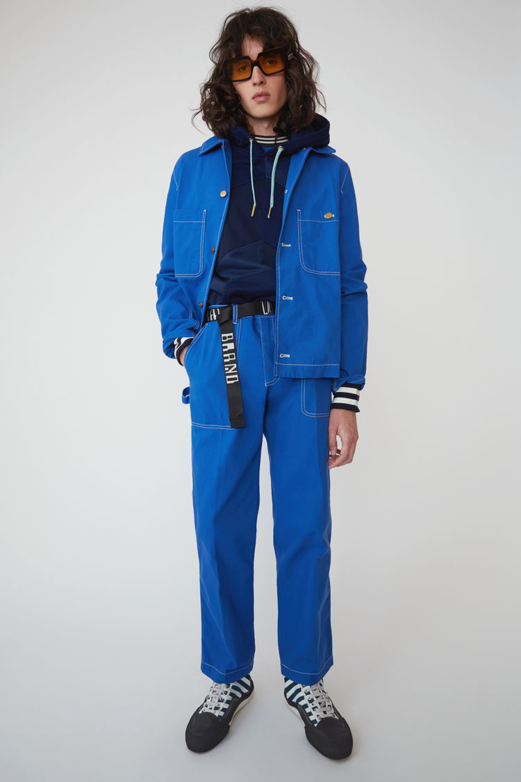 Canvas Trousers Ocean Blue by Acne Studios