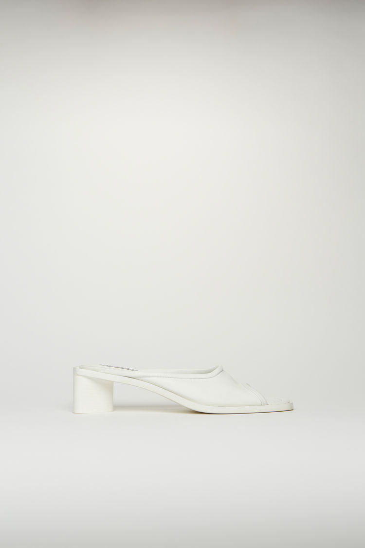 Acne Studios Open-toe leather mules White/white