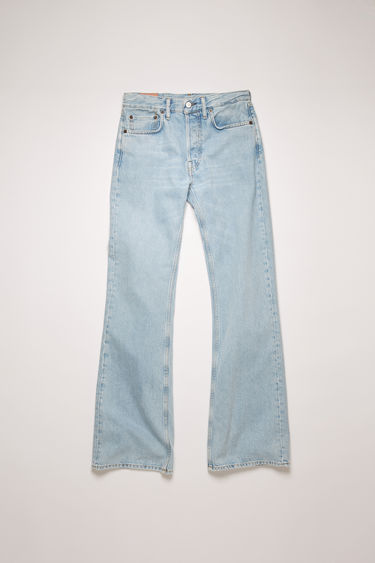 Acne Studios 1992F Blonde Sky jeans are cut from rigid denim that's stonewashed for a time-worn appeal. They're cut to a relaxed, bootcut silhouette with a high-rise waist and finished with a concealed button placket.