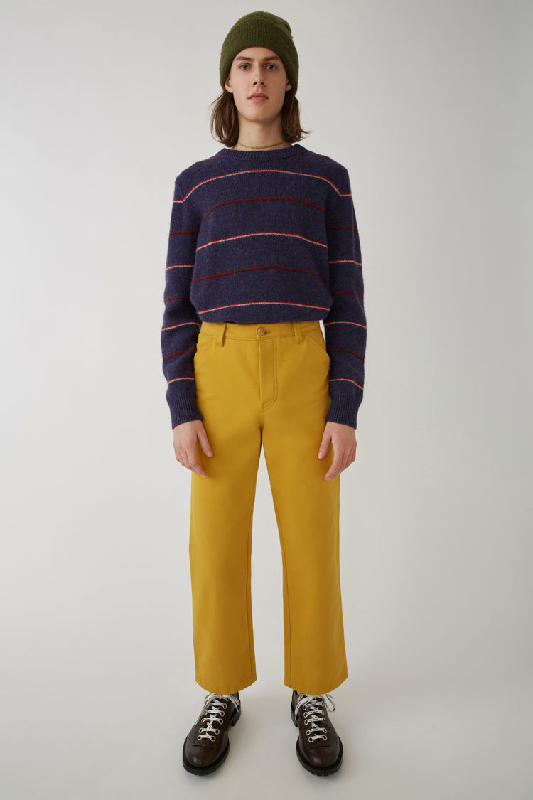 Workwear Trousers Mustard Yellow by Acne Studios
