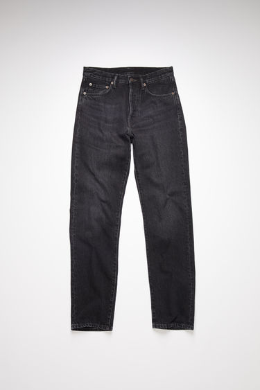 Acne Studios 1996 Vintage Black jeans are crafted from rigid denim that's washed to give a worn-in appeal. They're shaped to a high-rise silhouette with loose, straight legs and accented with subtle whiskering and fading.