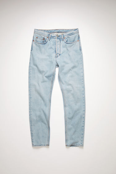 Acne Studios light blue jeans are made from from comfort stretch denim with a high rise and a slim, tapered leg.