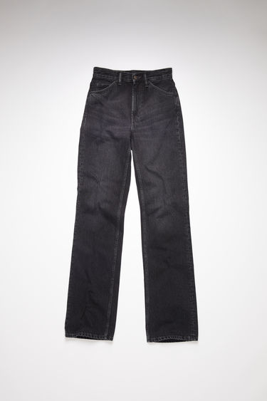 Acne Studios vintage black jeans are made from rigid denim with a mid rise and a bootcut leg.