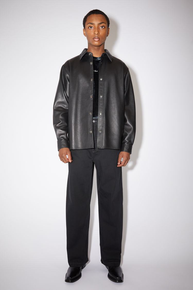 Acne Studios Leather overshirt Black