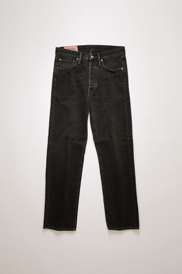 Acne Studios Blå Konst 1996 used black metal are classic fit, 5-pocket jeans with a regular length and deep rise.