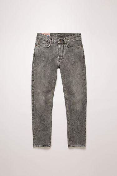 Acne Studios River Dark Stone Grey jeans are crafted from comfort stretch denim that's stonewashed to give a worn-in appeal. They're shaped to sit high on a waistband before falling to a slim, tapered leg.